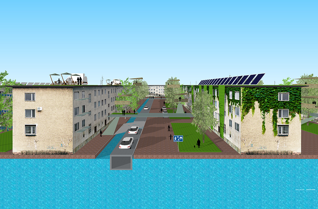 Urban district revitalisation H2O SUW