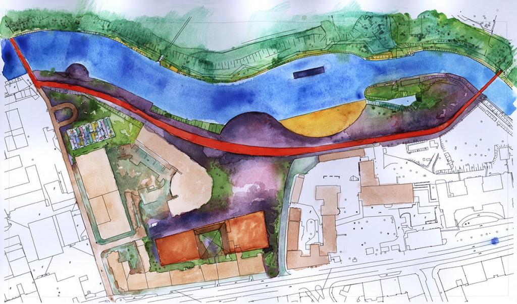 Urban district revitalization Zabka
